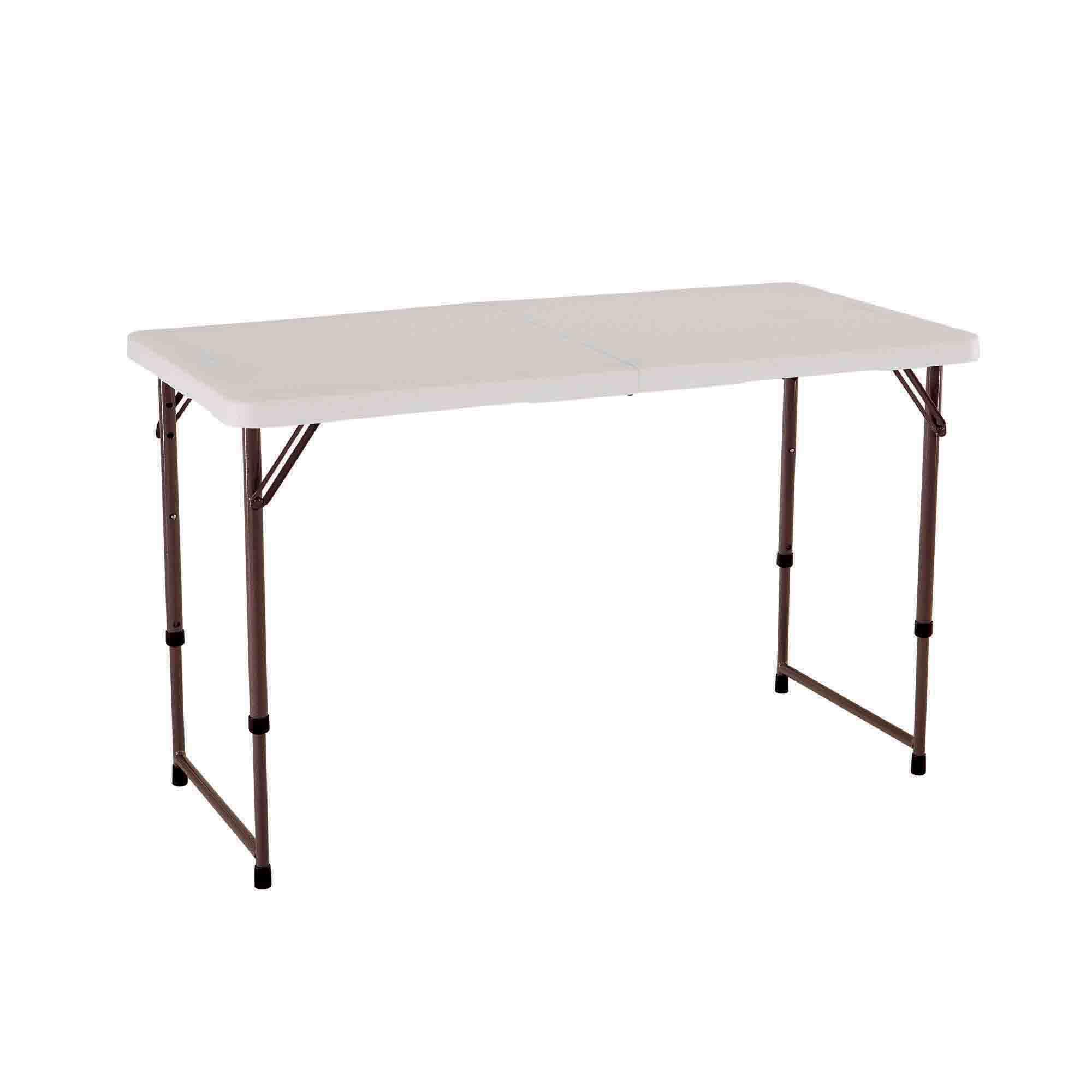 Lifetime 4 Light Commercial Fold In Half Adjustable Table Bjs Wholesale Club