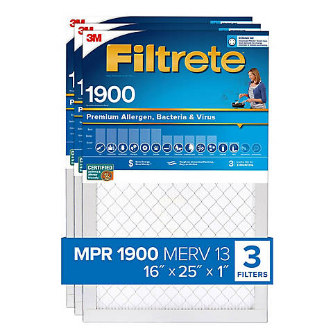 16 x 30 x 1 6-Pk Filtrete-Basic 3M Air-Filter Replacement Pad Furnace Dust Lot
