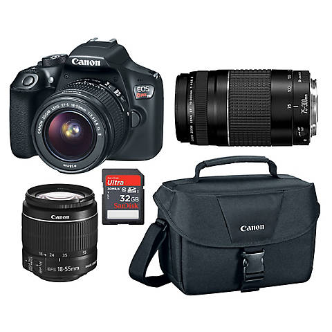 Canon Rebel T6 18mp Dslr Bundle Bjs Wholesale Club
