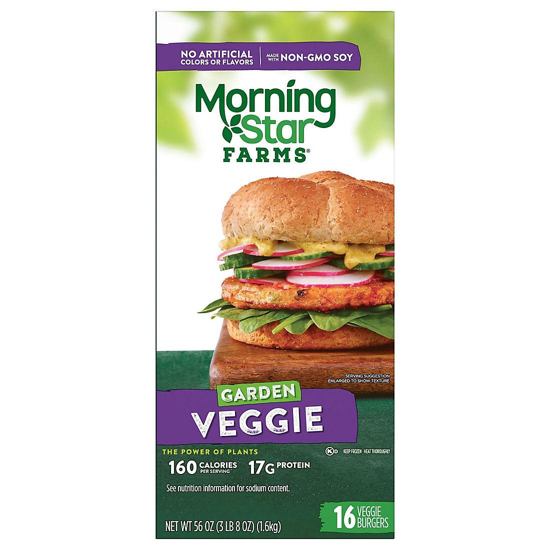 Morningstar Farms Garden Veggie Burgers 16 Ct Bjs Wholesale Club