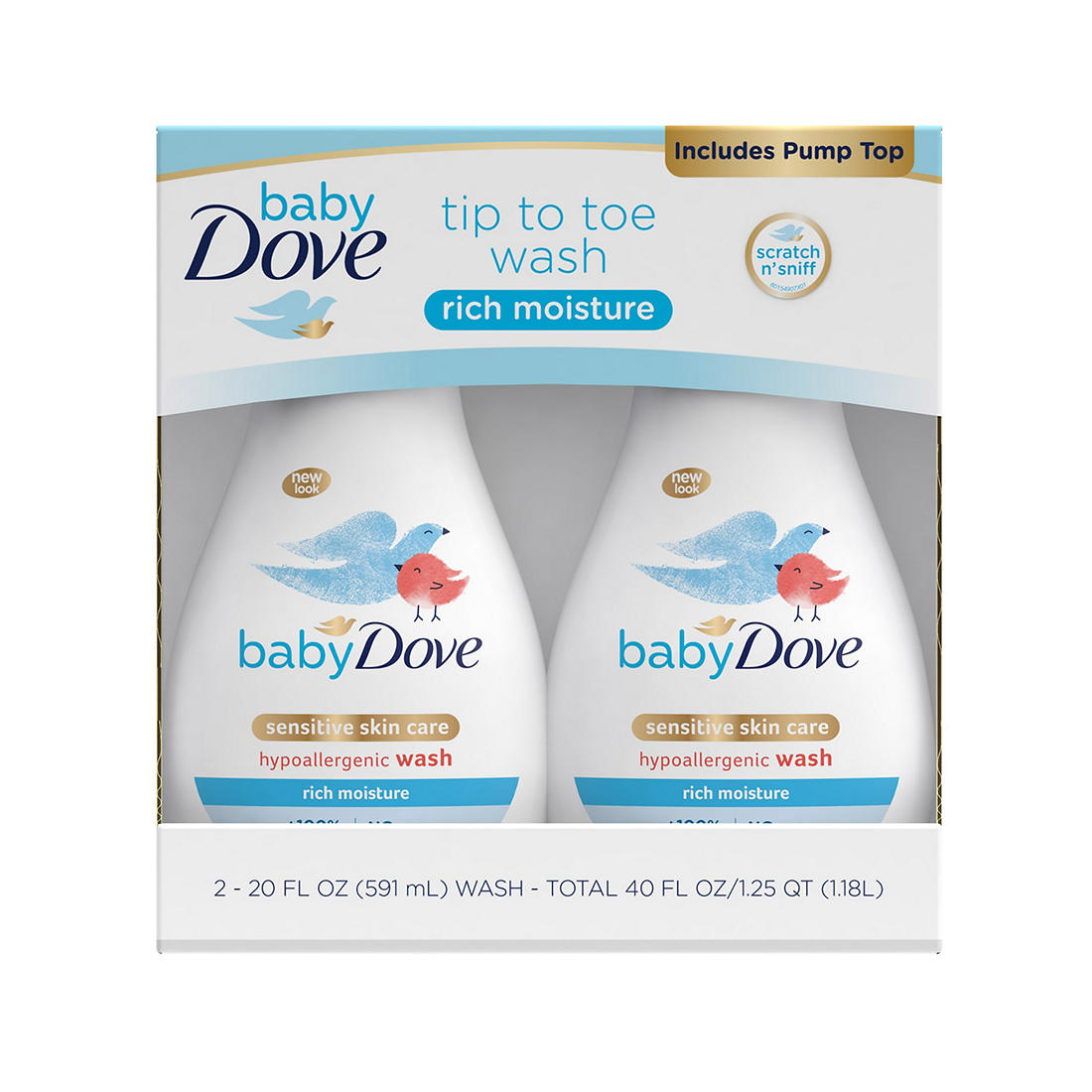 Baby Dove Rich Moisture Tip To Toe Wash Bjs Wholesale Club