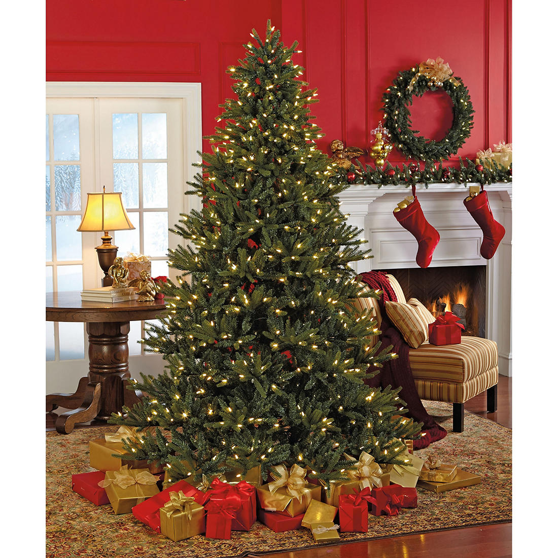 Sylvania 7 5 8 Function Color Changing Prelit Led Tree With Foot Pedal Bjs Wholesale Club